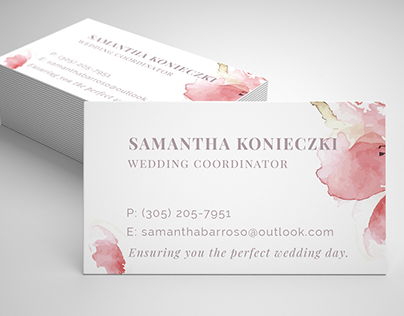 Wedding Coordinator Handouts & Business Card