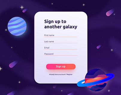 Sign up form - Daily UI #01