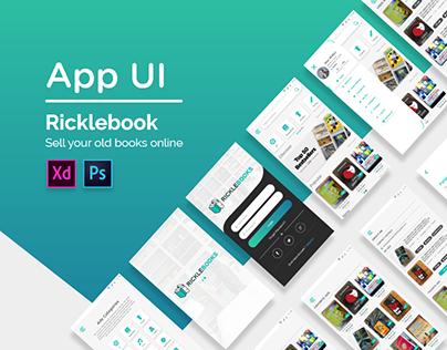 Ricklebook App UI
