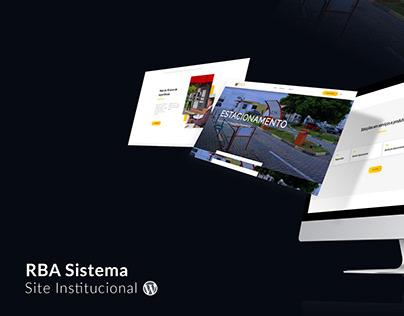 RBA Sistema - Site Institucional Wordpress