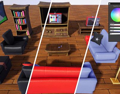 Stylized Living Room Furniture [UE4]