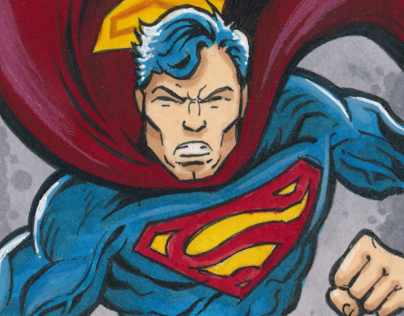 "DC Comics: ""Superman: The Legend"" Sketch Cards"