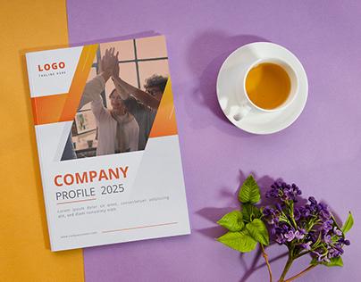 Company Profile Design with free mockup