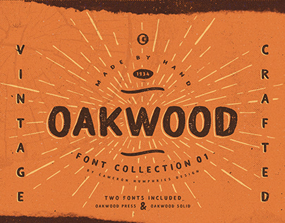 OAKWOOD PRESS FONT