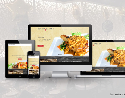 Cucina Cabana Restaurant Website