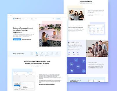 Landing Page Redesign for a SaaS Product