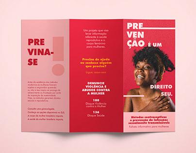 Material informativo para mulheres de baixa renda