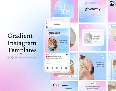 Gradient Instagram Templates