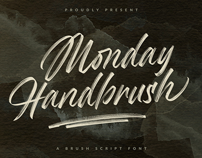 Monday Handbrush - Brush Script Font