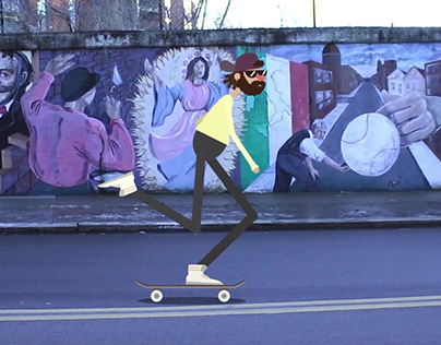 Skater 2D Composite Animation