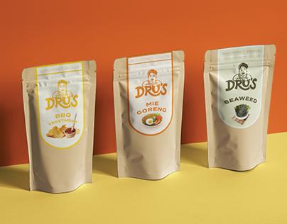 Dru's Snack & Chips Branding