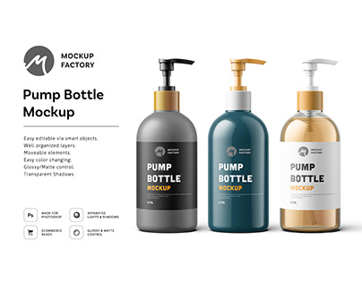 Pump Bottle Mockup