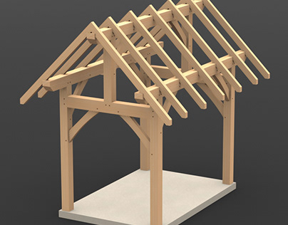 8 x 12 Timber Frame Shed