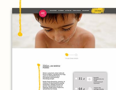 FUNDRAISING WEBSITE DESIGN for JiM Foundation