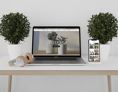 Landing page design_sale of pots