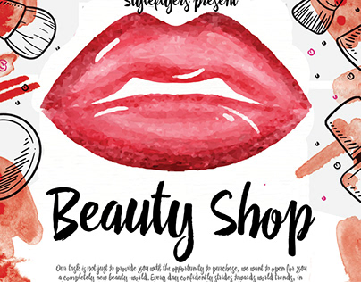 Beauty Shop FREE Flyer PSD