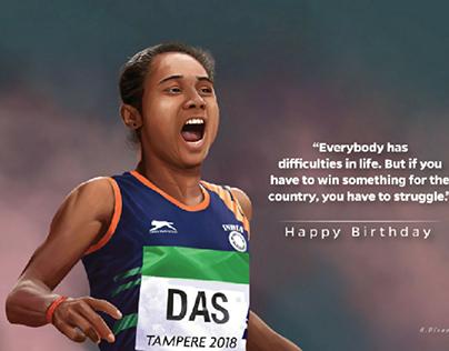 Hima Das birthday post