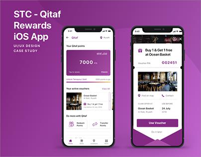 MySTC - Qitaf Rewards | iOS App | UI/UX Design