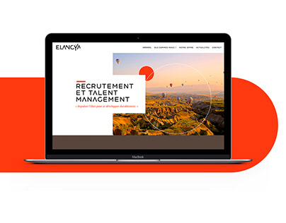 elancya.fr - Site web / DA & Webdesign