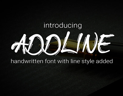 Addline Handwritten Font with line style added