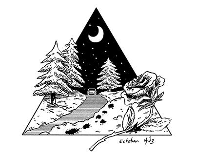 Illustrations for stories by Gabriel García Márquez