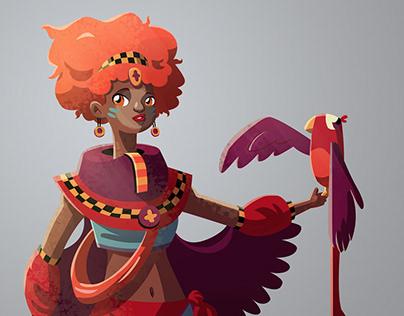 Kalisha - character design