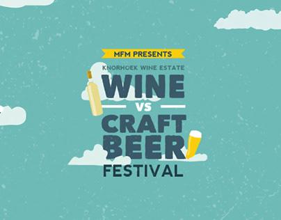 Wine vs Craft Beer Festival Brand Identity