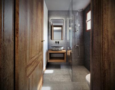 Bathroom at Elias apartments