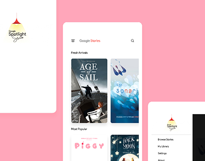 Google Spotlight Stories - Redesign ( Hobby Project )