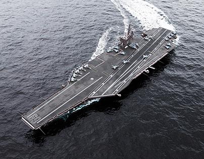USS CVN-69 Aircraft Carrier
