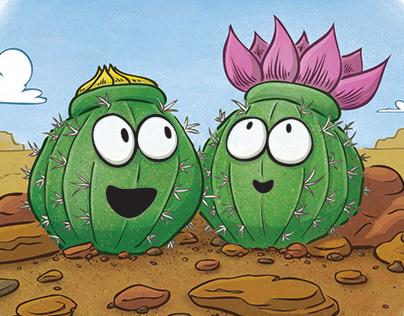 Cute Cactus Blooming in the Desert