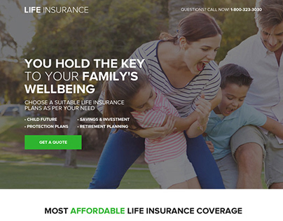 10 life insurance landing pages to generate max leads