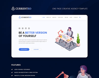 One Page Creative Agency Template