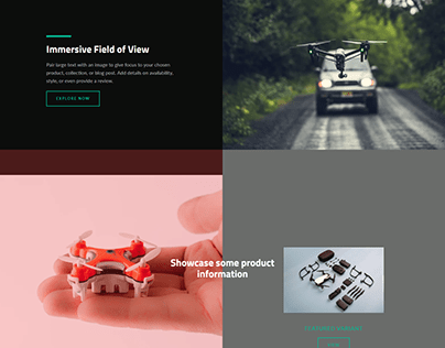Drone Fly | shopify one product store design
