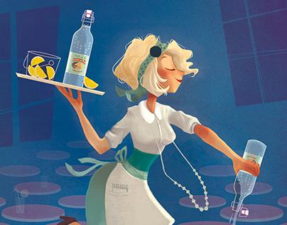 """Illustration """"Les Limonades de Fontestorbes""""'"""