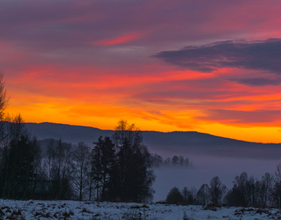 Sunset in Värmland