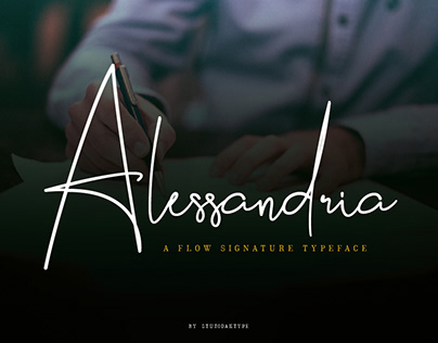 Alessandria Signature Font