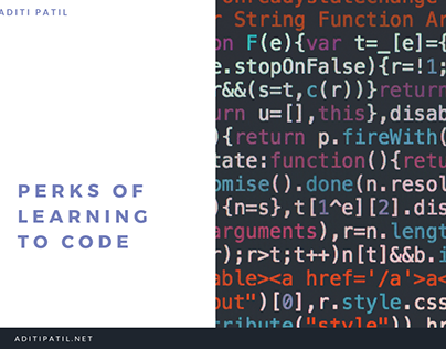Aditi Patil | Perks of Learning to Code