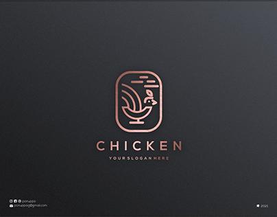 Monoline Chicken Logo