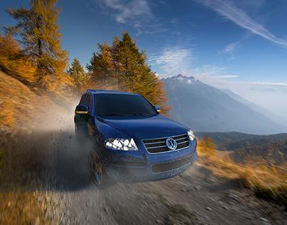 VW Touareg 3D rendering