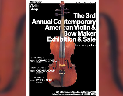 2019 poster design violin