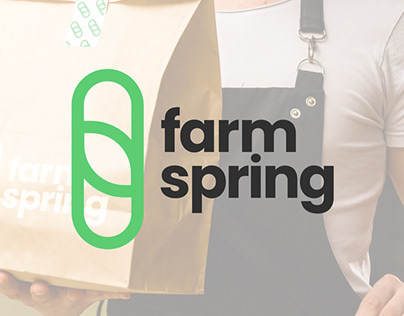 farmspring logo & visual identity design concept