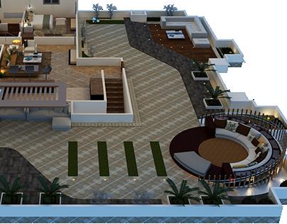 3D plan - Roof Desin - newCairo