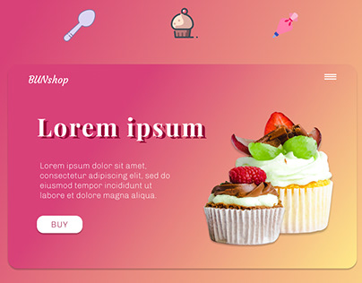 Site(header) for pastry shop