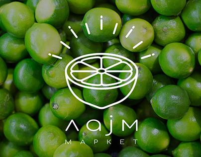 Lime market - Fresh fruit and vegetable store identity