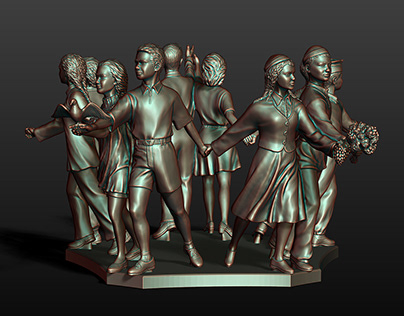 """Sculptural composition """"Friendship of Peoples"""""""