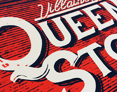 Queens Of The Stone Age Official Gig Poster Chile 2018