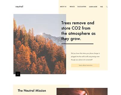Neutral - Carbon Emissions Website