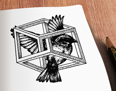 Geometric Tattoo - Bird