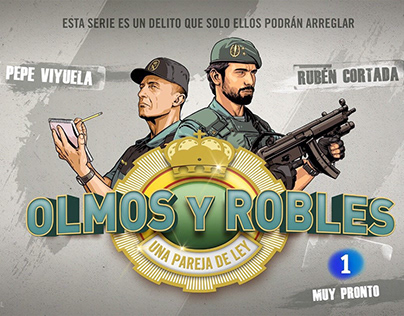 "Illustrations for the opening of ""Olmos y Robles"" serie"